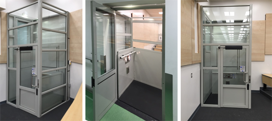 Home Elevators Residential GENESIS VERTICAL PLATFORM LIFT ENCLOSURE
